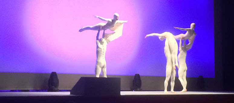Akrobatik auf einer Mediziner Tagung