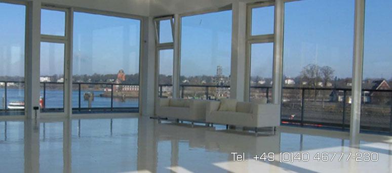 event location mit elb blick rundum glas blick auf die stadt. Black Bedroom Furniture Sets. Home Design Ideas