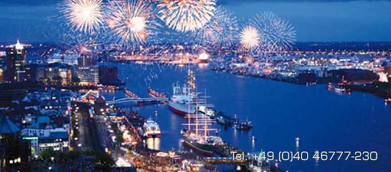 Atemberaubende Aussicht auf den Hamburger Hafen