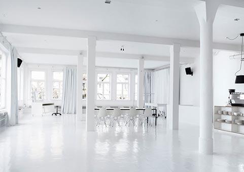 weißes Studio
