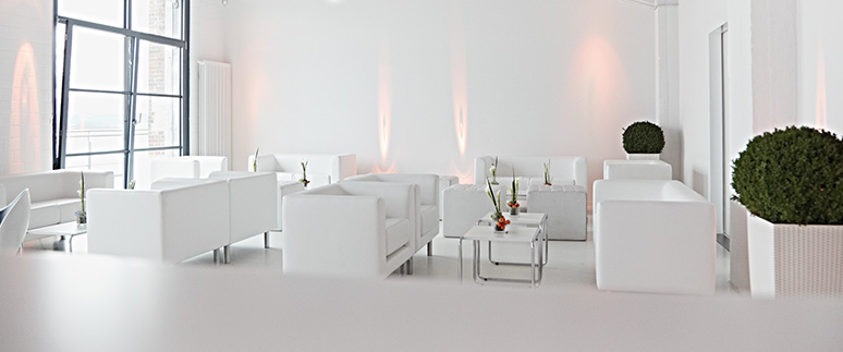 Ambiente f r events lounge dekoration lichtdesign - Dekoration lounge ...